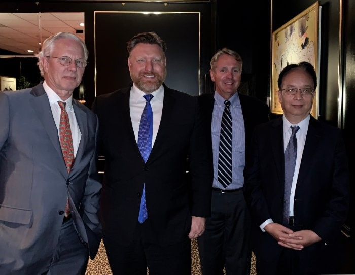 Gary Biehn with Tianjin, China Delegation