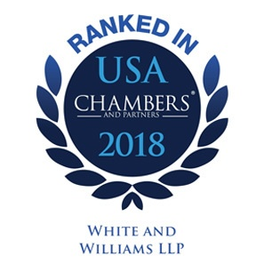 Photo of Chambers USA 2018 Ranks White and Williams as a Leading Law Firm
