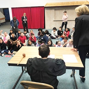 Photo of White and Williams Presents Law Day Program at Thomas Jefferson Elementary School