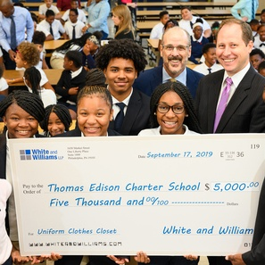 Photo of White and Williams Adopts Thomas Edison Charter School in Wilmington