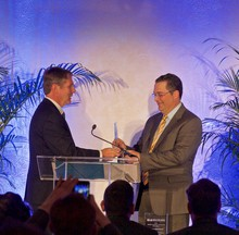 Photo for Gary Biehn Presents Company of the Year Award at World Trade Centers Day Awards and Celebration