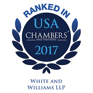 Photo of Chambers USA 2017 Ranks White and Williams as a Leading Law Firm