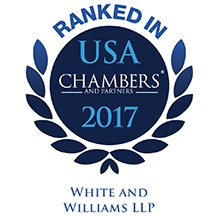 Photo for Chambers USA 2017 Ranks White and Williams as a Leading Law Firm