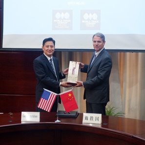 Photo of Gary Biehn Signs Memorandum of Understanding with Tianjin, China as Part of Trade Mission