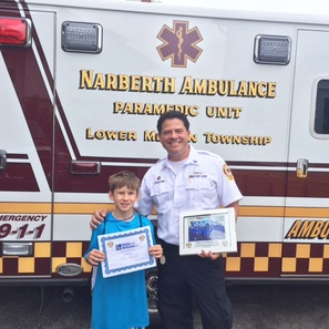 Photo of White and Williams Sponsors Narberth Ambulance EMS Camp
