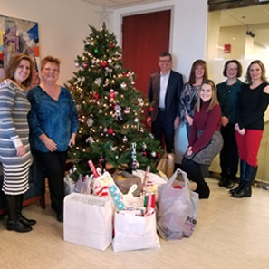 Photo of Cherry Hill Office Participates in Camden County Bar Association's Adopt-A-Family Program